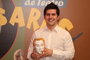 Santi Romay coa Xarra Casares ao mellor actor secundario (2011)