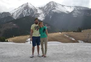 Iván coa súa moza na cordilleira dos Tatras