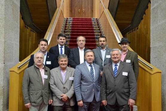Os alcaldes da comarca de Ordes na visita ao Parlamento de Galicia