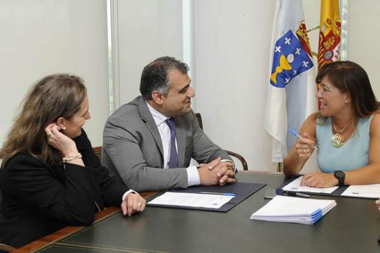 Beatriz Mato na reunión con Pablo González