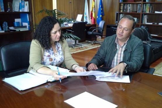 Belén do Campo reúnese co alcalde de Vilarmaior