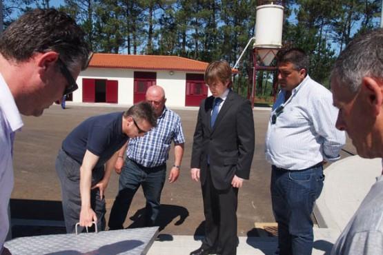 O director de Augas de Galicia na visita á Edar de Santa Comba