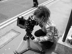 Adriana Páramo nunha rodaxe