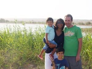 David Goldar coa súa familia
