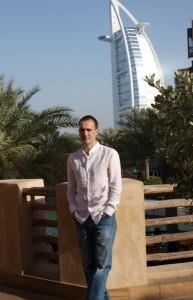 David Goldar nun dos edificios máis emblemáticos de Dubai