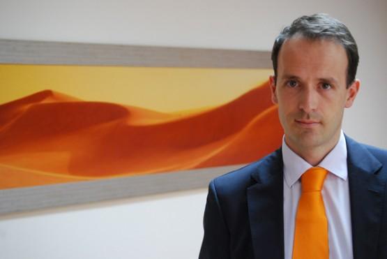 David Goldar nas oficinas de Televés en Dubai