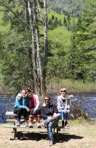 Andrea coa familia no parque de Jacques Cartier