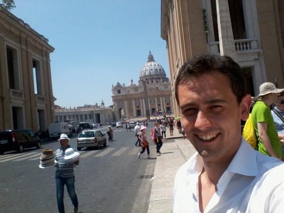 Javier en Roma