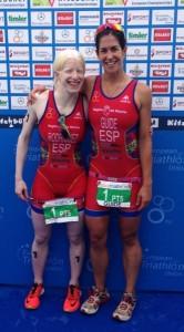 Susana Rodriguez e Mayalen Noriega tras facerse co título de campioas do mundo