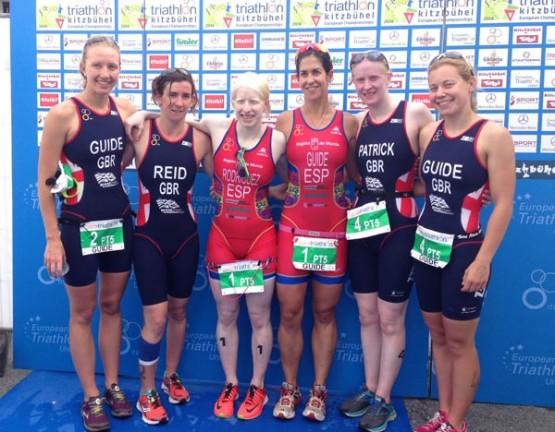 Susana e Mayalen dos dous equipos británicos que quedaron en segundo e terceiro lugar no Campionato do Mundo