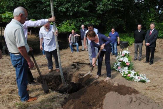 Plantación da primeira árbore