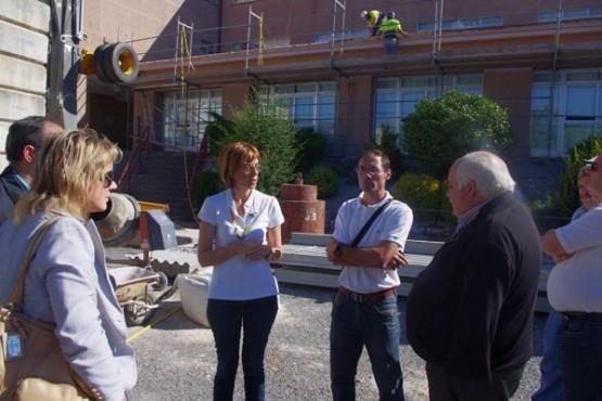 Raquel Arias na visita ao centro