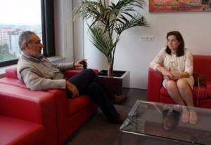 Cores Tourís na reunión coa rexedora de Crecente
