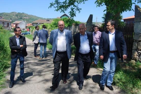 Rogelio Martínez na visita a Monterrei