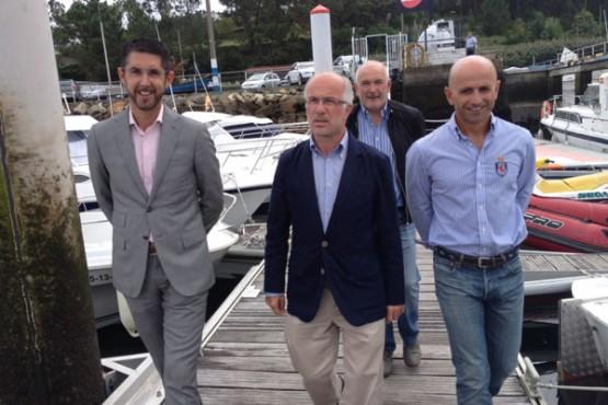 O presidente de Portos de Galicia en Portosín