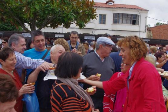 Raquel Arias na Feira da Rosca de Sober