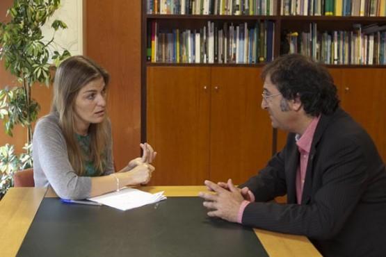 Reunión da directora de Conservación da Natureza e o alcalde de Mondariz. Foto: X. Crespo