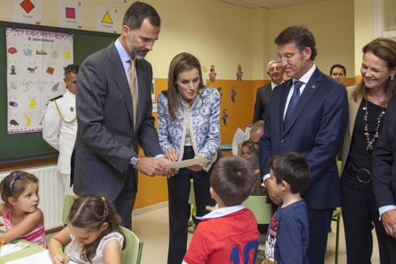 Visita dos Reis de España ao colexio Ben Cho Shey. Foto: X. Crespo
