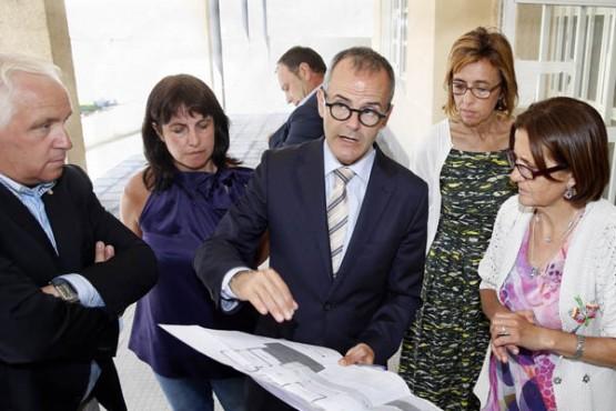 Xesús Vázquez na visita ao Ceip Laverde Ruíz