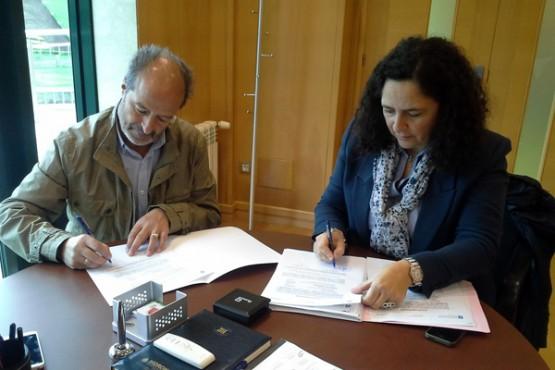 Belén do Campo na reunión co alcalde de As Somozas