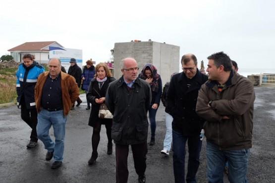 O presidente de Portos de Galicia en Camariñas