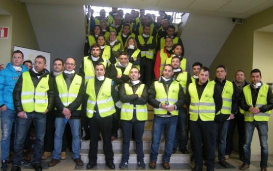 Grupo de policías locais de Galicia que asistiron ao curso