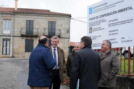 Alfonso Rueda na visita a Esgos