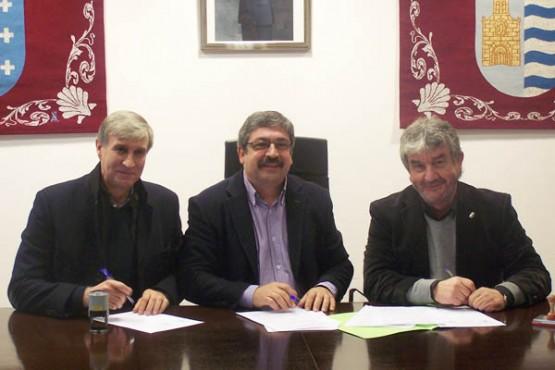 Reunión dos alcaldes de Miño, Paderne e Pontedeume