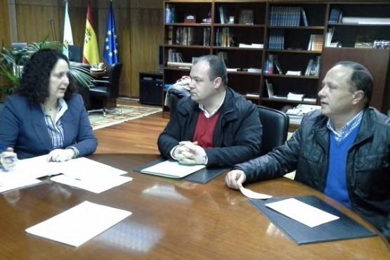 Belén do Campo na reunión cos alcaldes de Aranga e Vilarmaior
