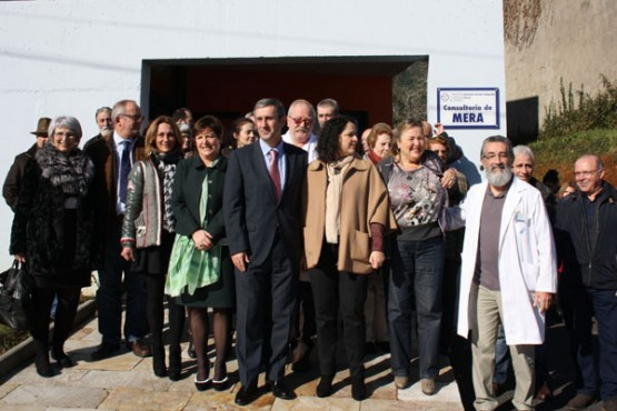 Rocío Mosquera na visita ao consultorio de Mera