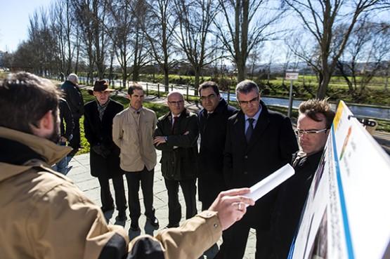 Manuel Baltar na visita a Xinzo
