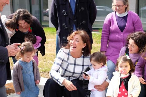 Beatriz Mato na visita a Touro