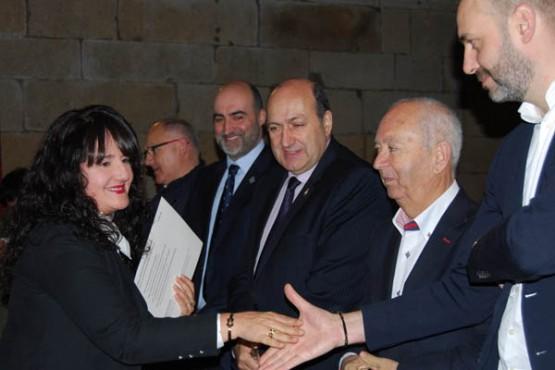 Rogelio Martínez na entrega de diplomas
