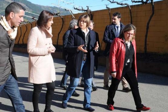 Rosa Quintana na visita ás instalacións