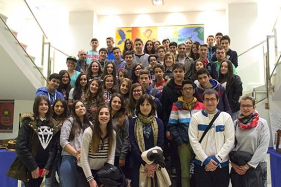 Visita dos estudantes
