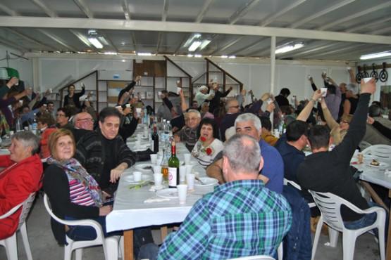 Participantes no xantar