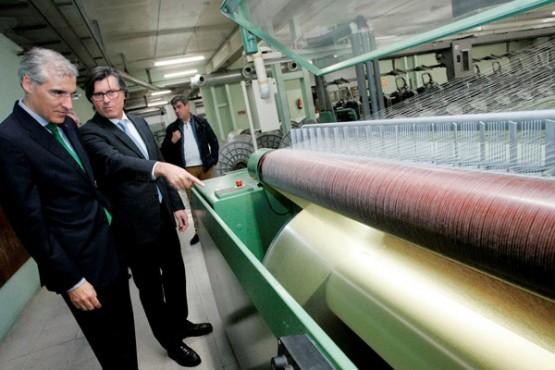 Conde na visita a Galicia Textil