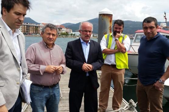 José Juan Durán na visita ao peirao do Con