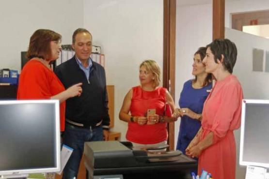 Susana López Abella na visita ao CIM
