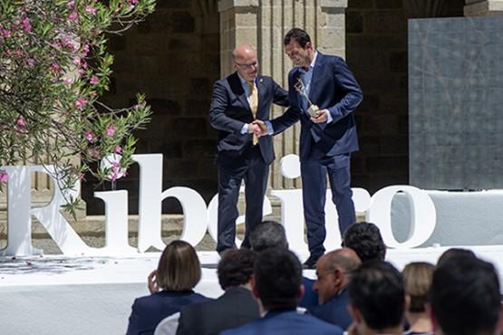 Manuel Baltar na entrega de premios