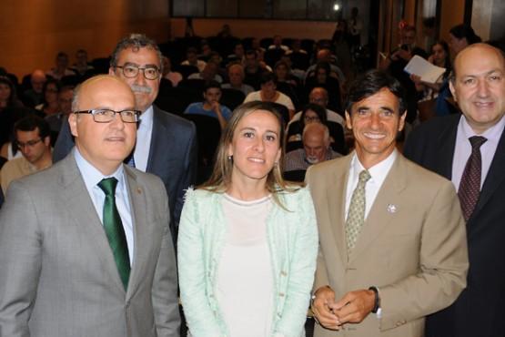 Ethel Vázquez na inauguración do curso en Ourense