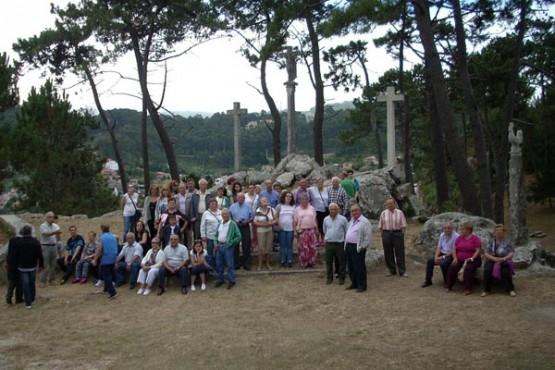 Veciños de Touro na visita a Baiona