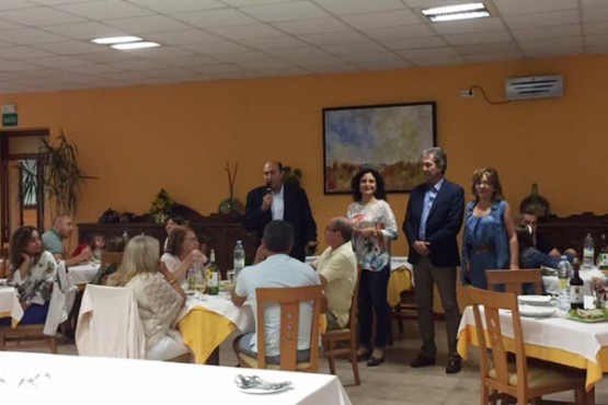 Amparo González e Rogelio Martínez na visita ás instalacións