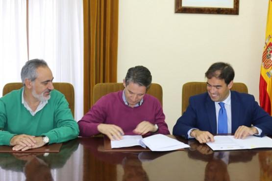Alberto Pazos e o alcalde de Meis