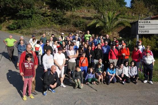 Participantes na ruta