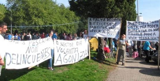 Protestas ante a Xunta