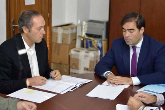 Reunión do director xeral da Administración Local co alcalde de Soutomaior