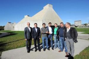 Visita do presidente da Deputación da Coruña