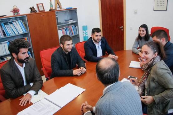 Os deputados Uxío Benítez e Xosé Leal na reunión coa alcaldesa