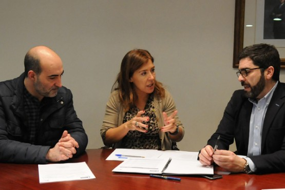 Beatriz Mato na reunión co alcalde de Celanova